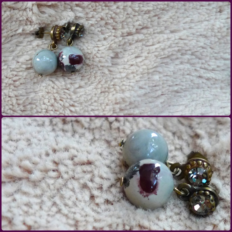 pendientes marmol